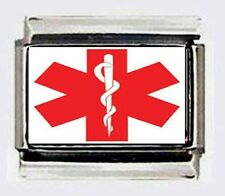 Medical STAR of LIFE Italian photo 9mm Charm for modular style link bracelets