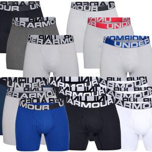 Under Armour Mens Charged Cotton 15cm Boxerjock Pants Underwear 3 Pack