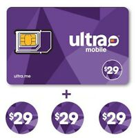 Ultra Mobile $29 Plan for 3 Months with SIM card - FREE SHIPPING