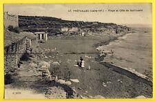 cpa Ecrite en 1923 PRÉFAILLES (Loire Atlantique) PLAGE et CÔTE de QUIROUARD