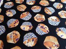 Fabric Blueberry Muffins, sold by the yard