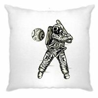Geeky Sports Cushion Cover Astronaut Space Baseball Art Planet Moon Nerd Science