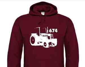 International 674 Classic Tractor Hoodie (Harvester, Vintage, Hoody, Classic)