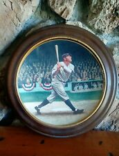 """VAN HYGEN FRAMED BABE RUTH NYY """"THE CALL SHOT"""" DELPHI COLLECTOR PLATE 1992"""