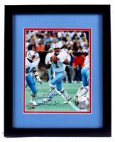 "Warren Moon Signed Oilers 12x15 Custom Framed Photo Display Inscribed ""HOF 06"""