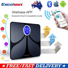 Excelvan Bluetooth Scale Smart Digital Bathroom Scales Body Fat Weight Monitor