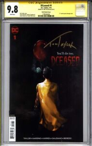 DCeased #1 CGC 9.8 SS TOM TAYLOR (IT movie poster homage cover variant)