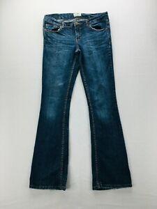 Aeropostale Hailey Flare Womens Size 5/6 Medium Wash Denim Blue Jeans