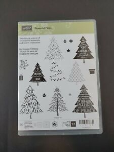 NEW Stampin Up PEACEFUL PINES Stamps Christmas Tree Holiday Tis the Season