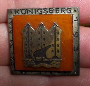 rares Tagungs- Abzeichen Bernstein 3. Reich 27.-31.Mai 1937 Königsberg amber alt