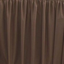 Sferra Celeste Brown King Bedskirt Chestnut Gathered Panels Cotton Italy New