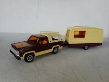 1/36 MAJORETTE DIECAST TOY CHEVY BLAZER  PURPLE   WITH CARAVAN N MINT RARE SET