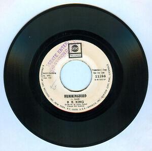 Philippines B. B. KING Hummingbird 45 rpm PROMO Record