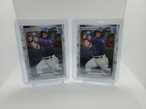 (2)WANDER FRANCO 2020 Bowman Chrome #1 Prospects ROOKIE #BCP-1 Tampa Bay Rays!