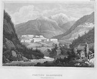 Italy, TYROL FESTUNG FRANZENSFESTE FORTRESS FORTEZZA ~ 1847 Art Print Engraving