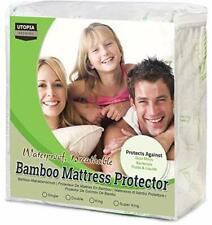 Utopia Bedding Waterproof Bamboo Mattress Protector - Fitted Mattress Cover