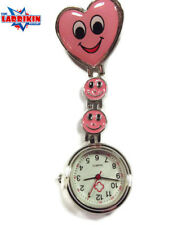 NURSES,DOCTORS, ORDERLY Happy Pink Face Watch, Great Xmas Present Gift