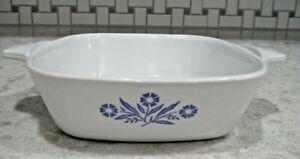 Small Corning Ware Blue Cornflower Design Baking Casserole Dish P-41-B 1 3/4 cup