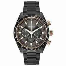 Citizen Eco-drive Mens Sport Black Finish Chronograph Watch Ca4207-53h