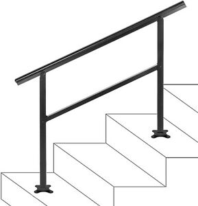 Step Handrail Fits 2 or 3 Steps Handrail Stair Railing Outdoor Porch Hand Rails