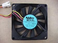 Nidec D08R-12TS1 03B 8015 80 x15mm Fan 12V  3Pin  609