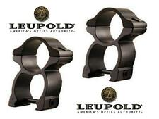 "LEUPOLD See-Through Tall 1"" Matte Black Scope Rings Fits Weaver Picatinny Rails"