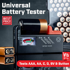 Universal Battery Tester Checker Aa Aaa 9v Button Small Batteries Compact Power