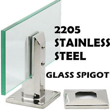 2205 Stainless Steel Glass Spigot for Pool Fence Frameless Balustrade Post Clamp