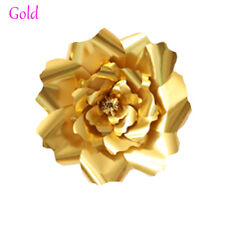 20/30cm DIY Paper Flowers Leaves Backdrop Decor Kid Birthday Party Wedding Favor Gold 2pcs-20cm