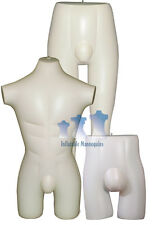 Inflatable Mannequin - Male Brief, Short, Swimsuit Collection, Ivory