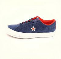 Converse Cons One Star Suede Molded Ox Sneaker Damen Blau Wildleder 159731C SALE