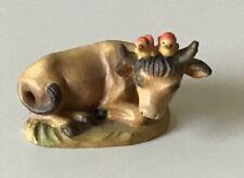 "Anri Ferrandiz 3"" Nativity Oxen Woodcarving Ox"
