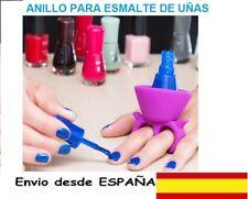 ANILLO SILICONA Soporte para Esmalte Pinta Uñas. Nail art.