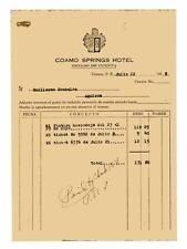 Vtg Invoice / Coamo Springs Hotel / BaÑOs De Coamo / Puerto Rico / 1948 #1