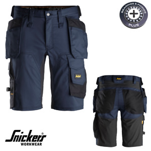 """Snickers 6141 Black / Navy Stretch Shorts Holster Pockets Work Sizes 30"""" - 50"""""""
