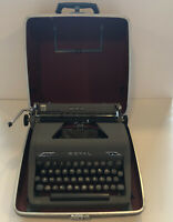Vintage Royal Gray Magic Quiet Deluxe Portable Typewriter With Case. 1940's