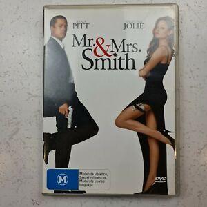 Mr & Mrs Smith DVD - Brad Pitt & Angelina Jolie -Region 4 - FREE TRACKED POST