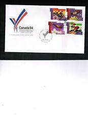 CANADA 1994 VICTORIA COMMONWEALTH GAMES FDC 4 stamps** MNH # 1519-22  BOX 519