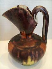 Mexican Pottery ~ Oaxaca Drip Glaze Pitcher/Creamer with Sawtooth Lip - NICE