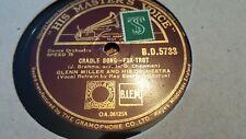GLENN MILLER AND HIS ORCHESTRA CRADLE SONG & ELMER'S TUNE HMV BD5733