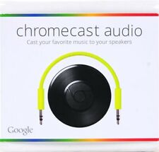 GOOGLE CHROMECAST AUDIO MEDIA STREAMER RUX-J42 BLACK - NEW