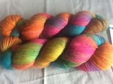 2 Skeins Three Irish Girls Adorn Sock Yarn Luau 80% Merino Wool 20% Nylon