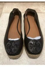 Authentic Tory Burch Brown Leather Espadrilles UK6/39EU/ US 9M.Great Condition!