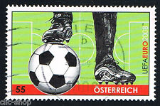 AUSTRIA 1 FRANCOBOLLO CALCIO UEFA 2008 usato