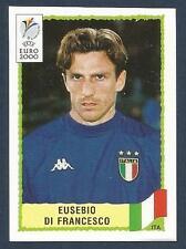 PANINI EURO 2000-GREEN BACK- #180-ITALY & ROMA-EUSEBIO DI FRANCESCO