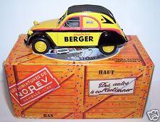 RARE NOREV HACHETTE CITROEN 2CV AZLP 1961 SIROPS BERGER 1/43 IN BOX