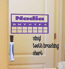 Bathroom Teeth Brushing Chart Wall Family Vinyl Mirror Decal Dental