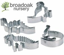 4 METAL DINOSAUR CUTTERS - Biscuit, Pastry, Dough, Dino Cookie Cutters...