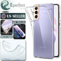 Clear Crystal TPU Soft Case Cover For Samsung Galaxy S8 S10 S20 S21 Plus Ultra
