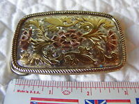 Vintage Cowboy Cowgirl Western Belt Buckle